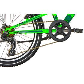 s'cool XXlite 20 7-S Børnecykel steel grøn